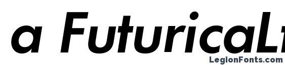 Шрифт a FuturicaLt SemiBoldItalic