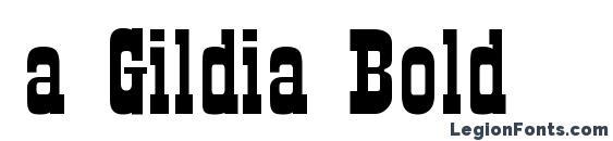 Шрифт a Gildia Bold