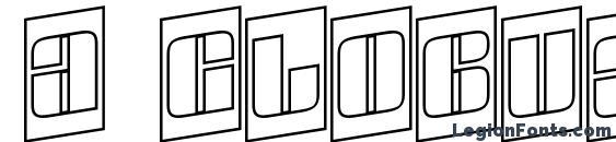 Шрифт a GlobusCmOtlSpUp