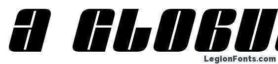 Шрифт a GlobusOblique