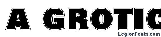 Шрифт a GroticTitulGrHv