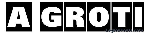 шрифт a GroticTitulHvCm, бесплатный шрифт a GroticTitulHvCm, предварительный просмотр шрифта a GroticTitulHvCm