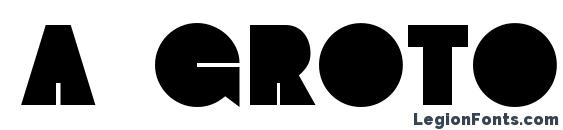 a Groto Font
