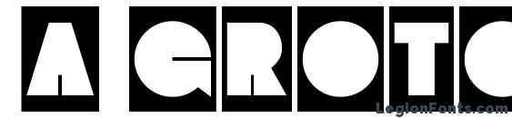 шрифт a GrotoCm, бесплатный шрифт a GrotoCm, предварительный просмотр шрифта a GrotoCm