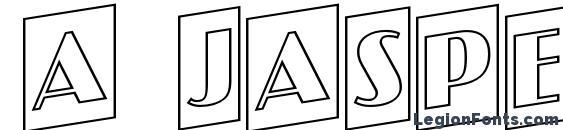 a JasperCmOtlUp Font