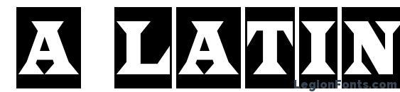 a LatinoTitulCm Font