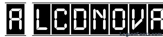 a LCDNovaCmFr Font