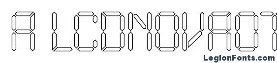 a LCDNovaOtl Font