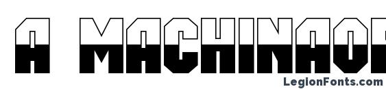a MachinaOrtoB&W Font