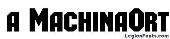 a MachinaOrtoCaps Bold Font