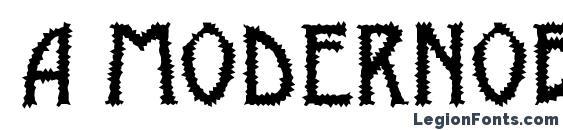 a ModernoBrk Font
