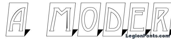 a ModernoCmOtl3DSh Font
