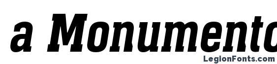 a MonumentoNr DemiBoldItalic Font, Russian Fonts