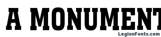 a MonumentoTitulNr Bold Font, Russian Fonts