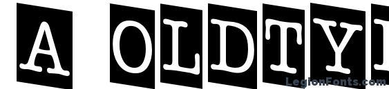 a OldTyperNrCmDn Font