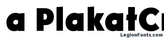 a PlakatCmpl ExtraBold Font
