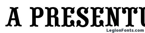 a PresentumNr Font, Western Fonts