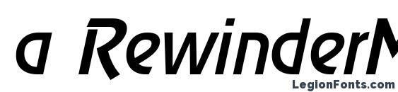 a RewinderMedium Italic font, free a RewinderMedium Italic font, preview a RewinderMedium Italic font