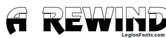 a RewinderTitulBW Bold Font