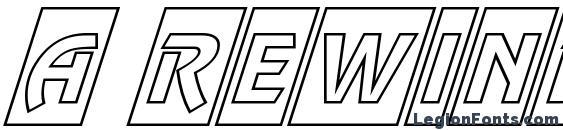 шрифт a RewinderTitulCmOtlObl, бесплатный шрифт a RewinderTitulCmOtlObl, предварительный просмотр шрифта a RewinderTitulCmOtlObl