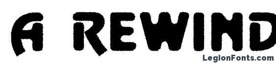Шрифт a RewinderTitulRgh Bold