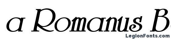 a Romanus BoldItalic Font