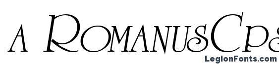 a RomanusCps Italic Font