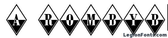 a RombyB&W Font