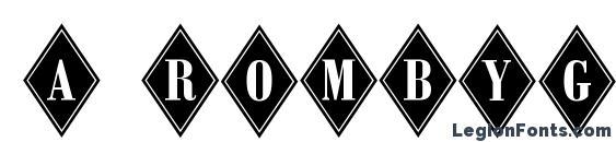 шрифт a RombyGr, бесплатный шрифт a RombyGr, предварительный просмотр шрифта a RombyGr