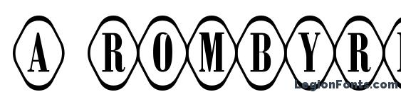 a RombyRndOtl Font, Russian Fonts