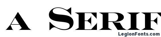 Шрифт a SeriferExpCps Bold