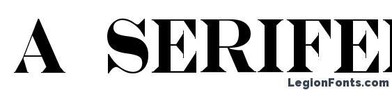 a SeriferNr Bold Font