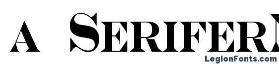 a SeriferNrCps Bold Font