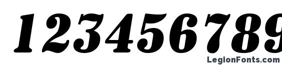 a SignboardCpsNr BoldItalic Font, Number Fonts
