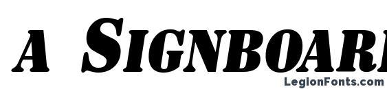 a SignboardCpsNr BoldItalic Font, Free Fonts