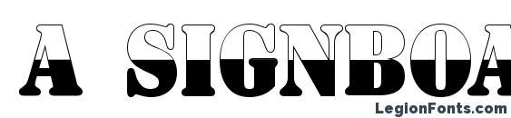 Шрифт a SignboardTitulNrB&W