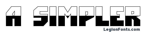 Шрифт a SimplerBUB&W Bold