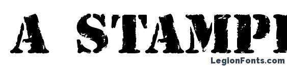 a StamperRg&Bt Font, African Fonts