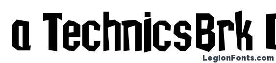 a TechnicsBrk DemiBold Font, African Fonts