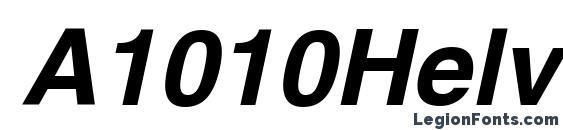 A1010Helvetika Bold Italic Font