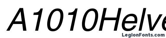 Шрифт A1010Helvetika N Italic