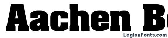 Aachen Bold Font