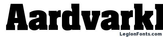 AardvarkBold Font