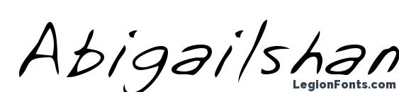 Abigailshand regular Font, Cursive Fonts
