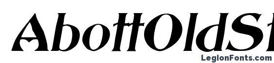 AbottOldStyle Italic Font
