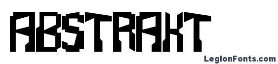 Abstrakt Font