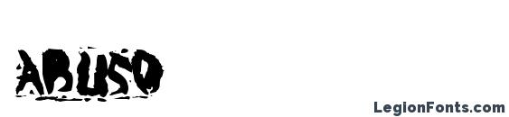 шрифт Abuso, бесплатный шрифт Abuso, предварительный просмотр шрифта Abuso
