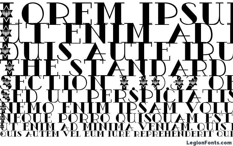 specimens Ac1 menorah font, sample Ac1 menorah font, an example of writing Ac1 menorah font, review Ac1 menorah font, preview Ac1 menorah font, Ac1 menorah font