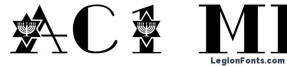 Шрифт Ac1 menorah