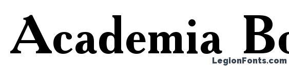 Academia Bold font, free Academia Bold font, preview Academia Bold font